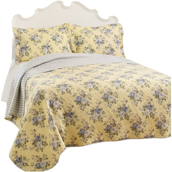 Linley 100% Cotton Reversible Quilt Set by Laura Ashley Home by Laura Ashley Home